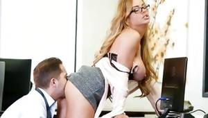 Sultry blonde babe is buggered brutally by a chap