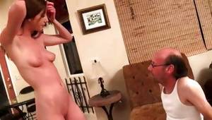 Adorable doxy is observed by matured aroused fellow