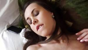 She pleasuring her body while jerking a cock