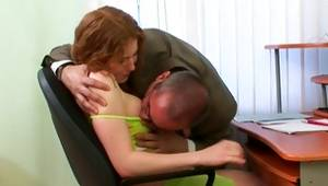 Look at on a divine chick is getting her allured by an old stud