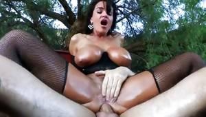 Sluttish damsel got her smashed indecently hard