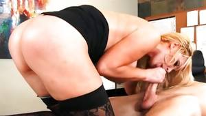 Blonde buxom young wench is pressed