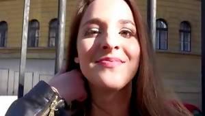 Watch amazing looking brunette woman